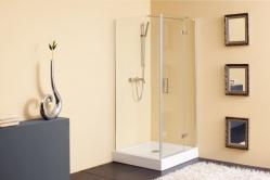 Terra zuhanykabin egy fix fallal egy nyíló ajtóval
