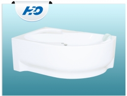 H2O Fortuna aszimmetrikus akril kád