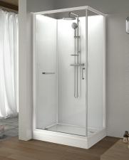 klp-KCDJ/CLII Zárt téglalap alakú és négyszögletes zuhanykabin szett (tolóajtós)