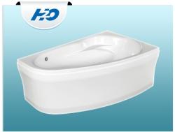 H2O Kitty aszimmetrikus akril kád 4+4+4 hidromasszázs rendszer ajándék fényterápiával