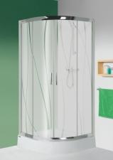 KP4/TX5b-80 W15 zuhanykabin (tilóajtós) tálca nélkül.