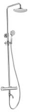 KIMURA termosztatikus zuhanyoszlop kádtöltővel, króm (KU500)