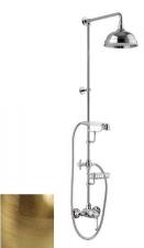 LONDON II zuhanyoszlop karos csapteleppel, szappantartó, bronz (LO41RM2250BR)