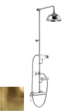 LONDON II zuhanyoszlop karos csapteleppel, szappantartó, bronz (LO41RM2251BR)