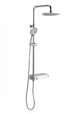 LIAM zuhanyoszlop csapteleppel, fej és kézizuhannyal, állítható magassággal, króm (LP139)