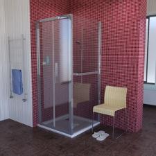 Polysan Lucis Line szögleteskabin egy ajtóval + fix fallal