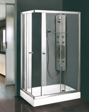 Aquatek MASTER R34 aszimmetrikus nyíló ajtós zuhanykabin