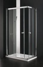 Aquatek MASTER R4 aszimmetrikus zuhanykabin, fehér profillal