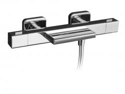 NABOO fali kád termosztatikus csaptelep, kaszkád, króm, (NA79106)