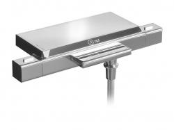 NABOO fali kád termosztatikus csaptelep szappantartóval, kaszkád, króm, (NA79107)