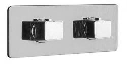 NABOO Falba süllyesztett termosztatikus zuhanycsaptelep, két irányú váltóval, króm (NA79L163)