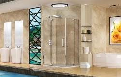 Aquatek Party R34 aszimmetrikus két nyílóajtós zuhanykabin