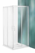 Roltechnik Proxima Line PXS2L + PXS2P szimmetrikus zuhanyzó 185 cm magas szatén üveggel