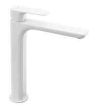SPY magasított mosdó csaptelep, lefolyó nélkül, matt fehér (PY07/14)