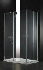 Aquatek GLASS kétajtós aszimmetrikus zuhanykabin több méretben