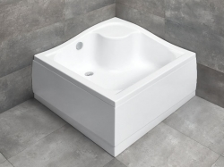 Radaway Korfu C szögletes, magas, akril zuhanytálca lábbal