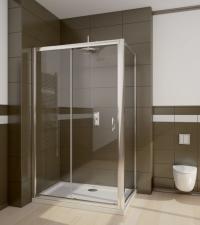 Radaway Premium Plus DWJ+S szögletes aszimmetrikus zuhanykabin