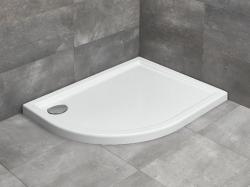 Radaway Tasos E aszimmetrikus akril zuhanytálca szifonnal