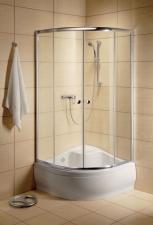 Radaway Classic A 1700 íves magastálcára szerelhető görgős zuhanyfülke