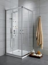 Radaway Premium Plus D aszimmetrikus szögletes görgős zuhanykabin