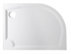 Riva íves öntött márvány zuhanytálca