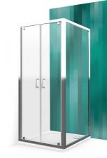 Roltechnik Lega Line LLDO2 + LLB szimmetrikus tusoló egy ajtóval és egy oldalfallal