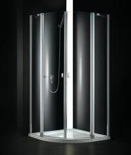 Aquatek GLASS S6 90x90 íves zuhanykabin