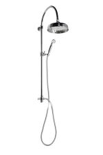 ANTEA zuhanyoszlop csaptelepre, fejzuhany és kézizuhany, króm (SET031)