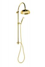 ANTEA zuhanyoszlop csaptelepre, fejzuhany és kézizuhany, arany (SET035)
