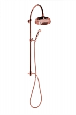 ANTEA zuhanyoszlop csaptelepre, fejzuhany és kézizuhany, rózsa arany (SET037)