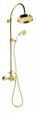 ANTEA Zuhanyoszlop termosztatikus csapteleppel, arany (SET045)