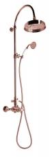 ANTEA Zuhanyoszlop termosztatikus csapteleppel, rózsa arany (SET047)