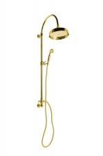 VANITY Zuhanyoszlop, csaptelepre szerelhető, fej- és kézizuhannyal, arany (SET055)