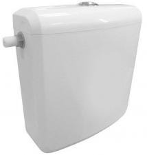 AQUALINE WC tartály, öblítőmechanikával és összekötő csövekkel, ABS, duálnyomógombos (T1801-S)