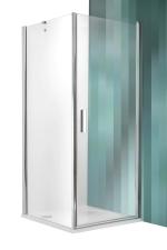 Roltechnik Tower Line TCO1+TB zuhanykabin egy nyíló ajtóval + egy fix fallal átlátszó üveggel