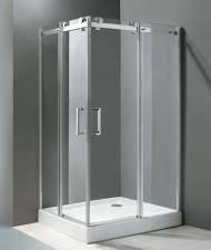 Aquatek Tekno aszimmetrikus zuhanykabin két tolóajtóval több méretben