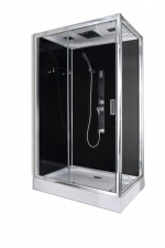 Sanotechnik Trend 3 aszimmetrikus hidromasszázs zuhanykabin elektronikával