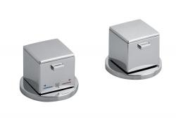UNA Kádperemre szerelhető, termosztatikus kádtöltő csaptelep, váltóval, kádbeömlő nélkül, króm (UN100)