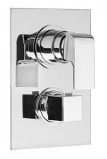 UNA falbaépíthető zuhany termosztatikus csaptelep, 5 irányú, króm (UN57168)