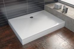 Vals öntött márvány szögletes zuhanytálca