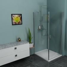 Polysan Zoom Line szögletes zuhanykabin több méretben
