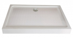 Sanotechnik fix előlapos akril zuhanytálca 120x80 cm