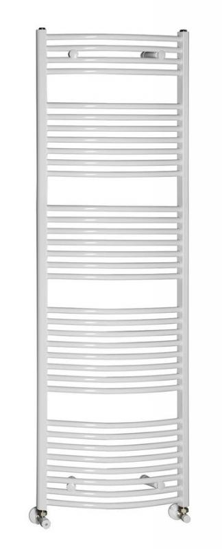 AQUALINE Fürdőszobai radiátor, 450x1690 mm, íves fehér (ILO64)