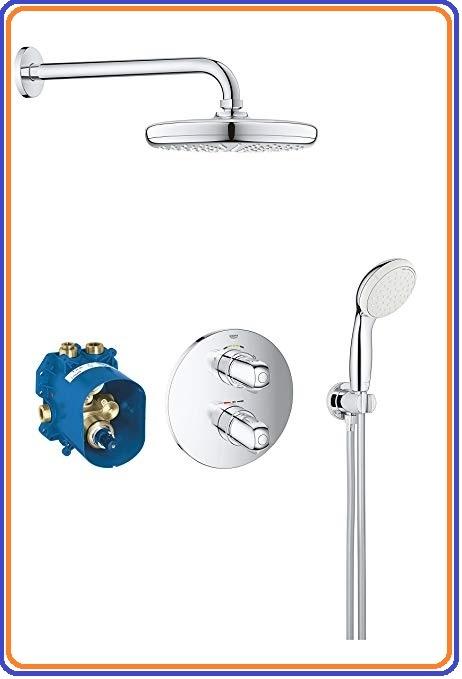 Grohtherm 1000 termosztatikus komplett szett 210 mm-es fejzuhannyal