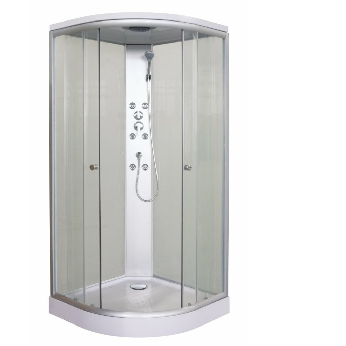 Sanotechnik Punto Fehér Quick Line hidromasszázs zuhanyfülke