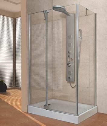 Aquatek Fresh Way aszimmetrikus zuhanykabin több méretben