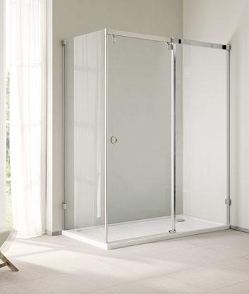 Aquatek Infinity tolóajtós aszimmetrikus zuhanykabin több méretben
